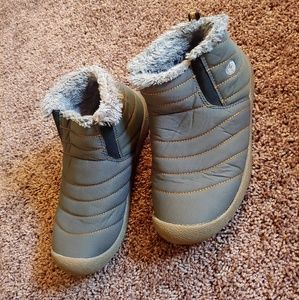 Shoes - Gray furry, insulated winter boots